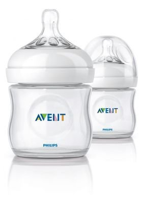 Philips AVENT Natural Feeding Bottle (125ml) (2 Pack):