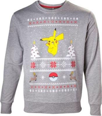 Pokemon Christmas Sweater.Pokemon Pikachu Mens Christmas Sweater Medium
