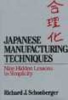 Japanese Manufacturing Techniques (Hardcover): Richard T. Schonberger