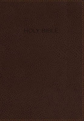 KJV, Foundation Study Bible, Imitation Leather, Brown, Indexed, Red Letter Edition (Leather / fine binding): Thomas Nelson