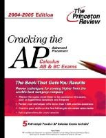 Cracking AP Calculus 04-05 (Paperback, 2004-2005 ed.): Princeton Review