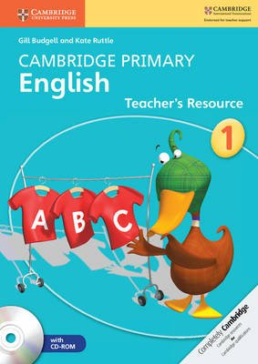 Cambridge Primary English - Cambridge Primary English Stage 1 Teacher's Resource Book with CD-ROM (Spiral bound): Gill...