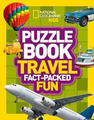 Puzzle Book Travel - Brain-Tickling Quizzes, Sudokus, Crosswords and Wordsearches (Paperback): National Geographic Kids