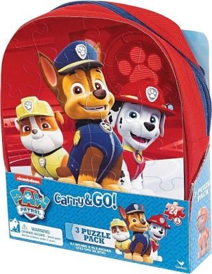 Nickelodeon Paw Patrol Carry & Go Puzzle Pack (3 x 24 Piece):
