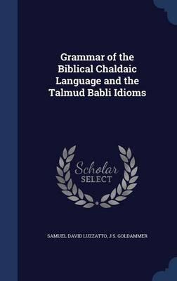 Grammar of the Biblical Chaldaic Language and the Talmud Babli Idioms (Hardcover): Samuel David Luzzatto, J. S. Goldammer