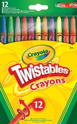 Crayola Twistable Crayons (Pack of 12)(Assorted Colours):