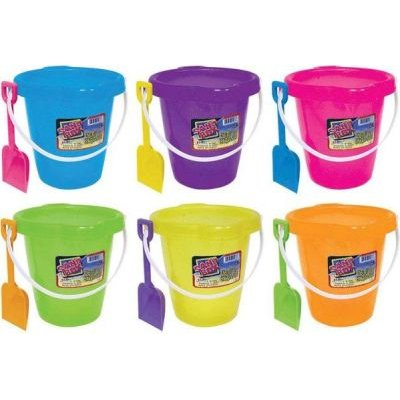 Ja-Ru Plastic Sand Toy Pail and Shovel (Supplied colour may vary):