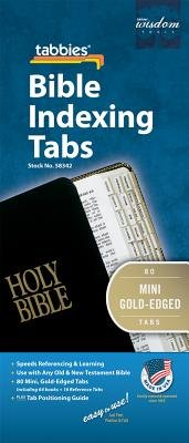Bible Tab - Mini-Old & New Testament Gold Edge: Tabbies