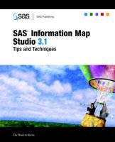 SAS(R) Information Map Studio 3.1 - Tips and Techniques (Paperback): SAS Publishing