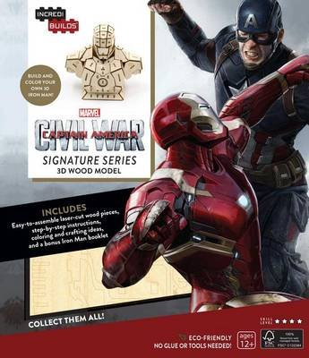 IncrediBuilds: Marvel's Captain America: Civil War: Iron Man Signature Series 3D Wood Model (Kit, Proprietary ed.):...