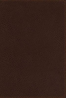 NKJV, End-of-Verse Reference Bible, Giant Print, Personal Size, Leathersoft, Brown, Indexed, Red Letter Edition (Leather / fine...