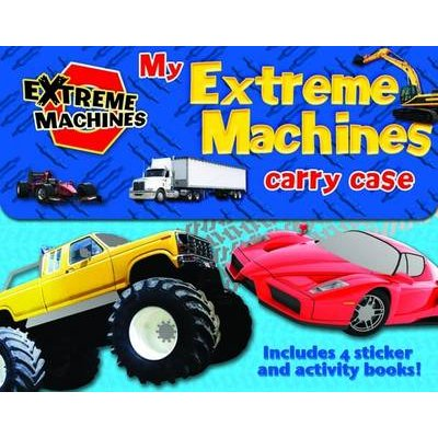 My Extreme Machines Carry Case - Includes 4 Sticker Activity Books (Paperback): Gemma Cooper
