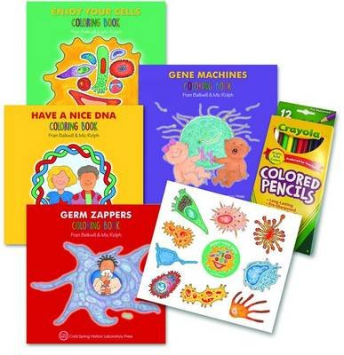 Enjoy Your Cells Series Coloring Books, 4-Book Gift Set - Four-Volume Set with Colored Pencils and Stickers (Paperback): Fran...