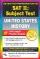 SAT II: United States History (Rea) -- The Best Test Prep for the SAT II (Paperback): Gary Land, Research & Education...