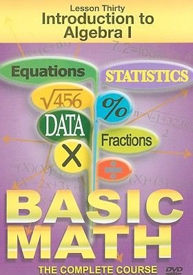 Introduction to Algebra I, Lesson Thirty (Region 1 Import DVD): TMW Media