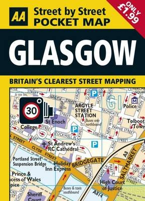 AA Pocket Map Glasgow (Sheet map, folded, 4th Revised edition):