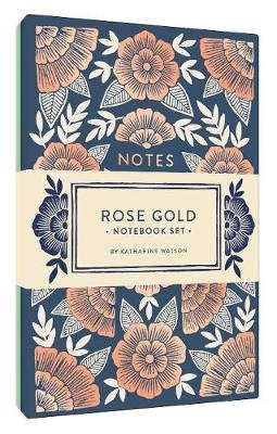 Rose Gold Notebook Set - Two Foil-Stamped Notebooks (Notebook / blank book): Katharine Watson