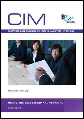 CIM - Marketing Leadership and Planning - Study Text (Paperback): BPP Learning Media