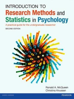 Introduction to Research Methods and Statistics in Psychology - A practical guide for the undergraduate researcher (Paperback,...