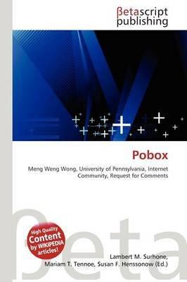 Pobox (Paperback): Lambert M. Surhone, Mariam T. Tennoe, Susan F. Henssonow