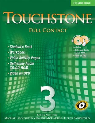 Touchstone Level 3 Full Contact (with NTSC DVD) (Paperback, Student): Michael McCarthy, Jeanne McCarten, Helen Sandiford