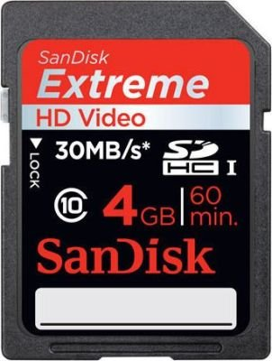 SanDisk Extreme SDHC Memory Card (Class 10)(4GB):