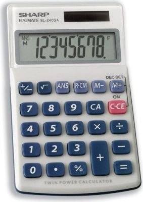 Sharp EL-240SAB Solar Calculator: