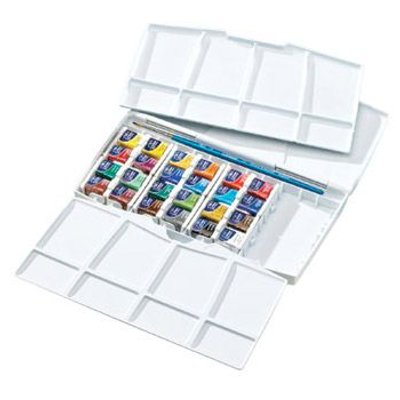 Winsor And Newton Cotman Painting Plus Artist Box Set (24 x Half Pans):