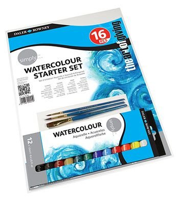 Daler Rowney Simply Watercolour Starter Set (10 Piece):
