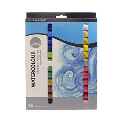 Daler Rowney Simply Watercolour Set (24x12ml):