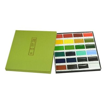 Kuretake Gansai Tambi Japanese Watercolour (24 Colour Large Pan Set):