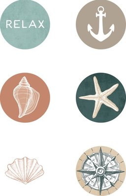Kaisercraft Embellishments Unchartered Waters Curios (Pack of 6 Assorted):