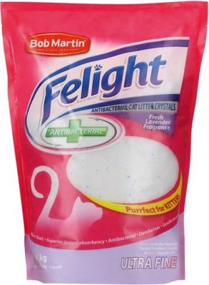 Bob Martin Felight Ultra Fine Anti-Bacterial Cat Litter Crystals - Lavender Fragrance (1.5kg):