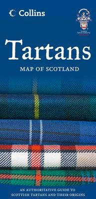 Tartans Map of Scotland (Sheet map, folded, New edition): Collins Maps