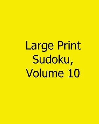 Large Print Sudoku, Volume 10 - Fun, Large Print Sudoku Puzzles (Large print, Paperback, large type edition): Sam Winter