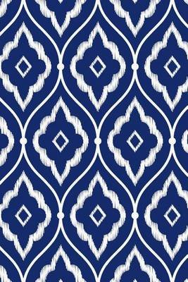 Porcelain Indigo Blue and White Persian Ikat Pattern Journal - 150 Page Lined Notebook/Diary (Paperback): Cool Image