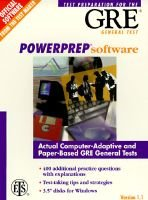 Gre Power Preparation Math Review (Paperback):