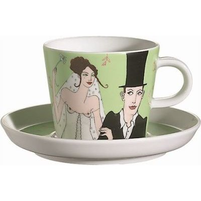 Arzberg Bridal Chorus Cup and Saucer (Multicolour):