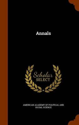 Annals (Hardcover): American Academy of Political and Social