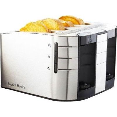 Russell Hobbs Satin Toaster (4 Slice) (Brushed Steel):