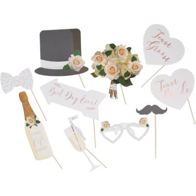 Beautiful Botanics - Photo Booth Props (10 Pack):