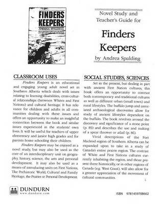 Finders Keepers Teachers' Guide - Dundurn Teachers' Guide (Online resource): Andrea Spalding