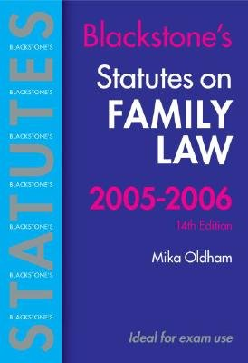 Statutes on Family Law (Paperback, Rev ed): Mika Oldham