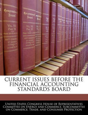 Current Issues Before the Financial Accounting Standards Board (Paperback): United States Congress House of Represen