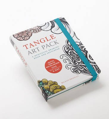 Tangle Art Pack - A Meditative Drawing Book and Sketchpad (Hardcover): Beckah Krahula