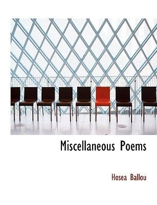 Miscellaneous Poems (Large print, Hardcover, large type edition): Hosea Ballou