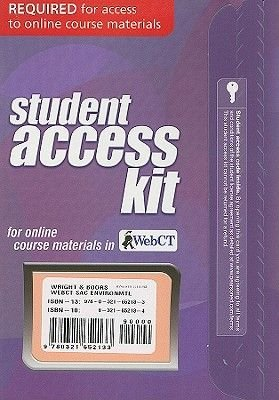 WebCT Student Access Kit for Environmental Science - Toward a Sustainable Future (Online resource, 11th Revised edition):...
