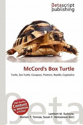 McCord's Box Turtle (Paperback): Lambert M. Surhone, Mariam T. Tennoe, Susan F. Henssonow