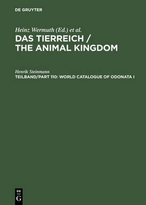 World Catalogue of Odonata I - Zygoptera (Electronic book text): Henrik Steinmann