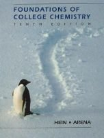 Foundations of College Chemistry 10e (Wse) (Hardcover, 10th ed. /): M. Hein